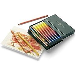 Faber-Castell 110038 - Estuche estudio con 36 lápices de colores polychromos, multicolor