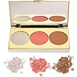 Myglamm Chisel It Show Stopper Blushes, Golden/Peach/Light Brown