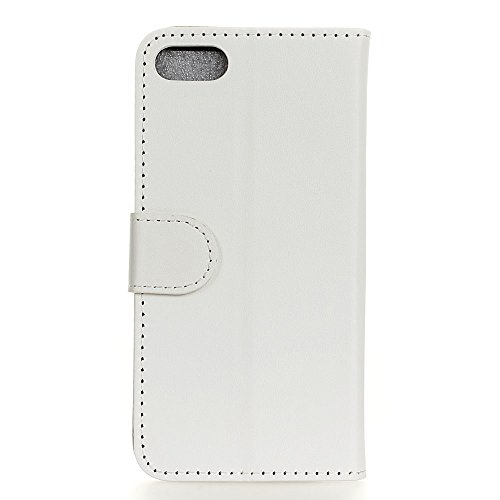 MOONCASE iPhone 7 Bookstyle Étui Housse en Cuir Case Support à rabat Coque de protection Portefeuille TPU Case pour iPhone 7 Voilet Blanc