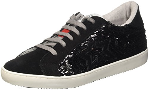 Fake By Chiodo F 867, Scarpe Low-Top Unisex-Adulto Nero (Nero/ Platino)