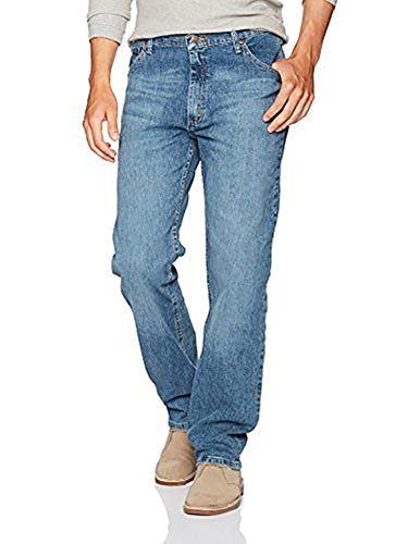 Wrangler Herren Authentics Mens Classic Regular-Fit Jeans, Vintage Blue Flex, 36W / 34L -