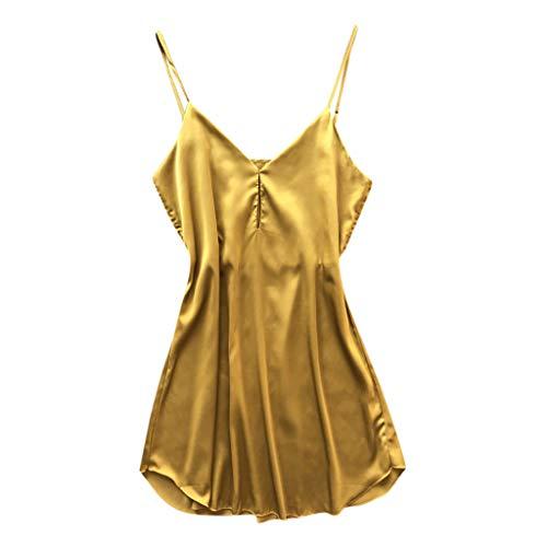 vert Babydoll Reizwäsche[Day.LIN] Damen Erotik Spitze Lingerie Split Fashion Sexy Lace Nachtwäsche Dessous Versuchung Babydoll Unterwäsche Nachthemd (Gelb, EU36 / M) ()