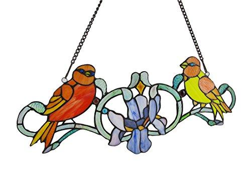 Colorato Caroling Canarini vetrata pannello