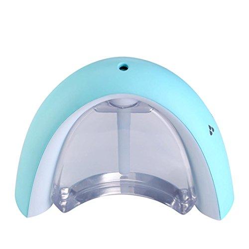 Bovake Aroma diffusore, Rainbow Message Board} USB umidificatore colore della luce notturna blu