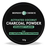 #3: HONEST CHOICE Activated Coconut Organic Charcoal Teeth Whitening Powder | Enamel Safe Teeth Whitener for Sensitive | Naturally White Teeth | Removes Tooth Stains and Bad Breath