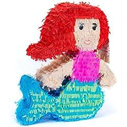 Trend Ario Piñata sirena–45x 40cm–Ideal para llenar con dulces y regalos–Piñata, cumpleaños para niños Juego, regalo Idea, Fiesta, Boda