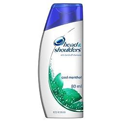 Head and Shoulders Shampoo, Cool Menthol, 80ml