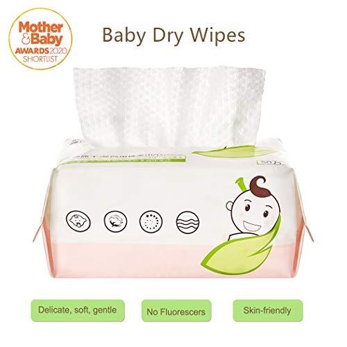GothicBride Trockene Babypflegetücher Trockene Tücher 100{f83bda08f29a77d73a4a3b7bf65c4bd1039d55c903215637eb419259d87e5e48} US-Baumwolle parfümfrei ohne Alkohol und Parfüm für hochsensible Babyhaut Auch für Allergiker geeignet