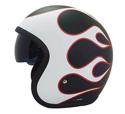 Viper RS-V06 Casque de moto avec visière Motif flamme