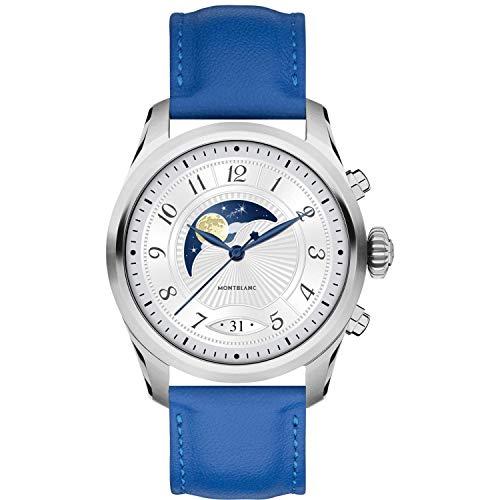 483daba816c4 Reloj Montblanc Summit 2 Smartwatch 119722 Acero y Correa de Piel Azul
