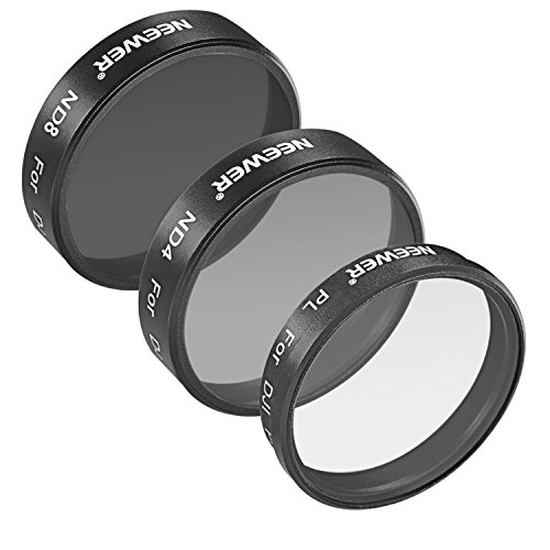 Neewer® für DJI Phantom 3 Professionelle und Advanced, 3-teiliges Filter-Set: (1) Polarisator Filter + (1) ND4 Filter + (1) ND8 Filter, Nicht für DJI Phantom 3 Standard