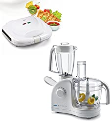 GLEN4052 LX Food Processor with Sandwich Maker