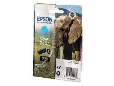 Epson original - Epson Expression Photo XP-55 (24XL / C 13 T 24324010) - Tintenpatrone cyan - 500 Seiten - 8,7ml -