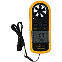 GM816 LCD digital Windmesser wind-speed Gauge Meter Handheld Windmesser Airflow USB Thermometer