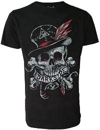 Original Darkside Herren T-Shirt, Motiv: Voodoo-Schädel, Schwarz oder Weiß