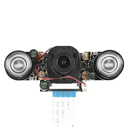 Akozon Kameramodul 5 Millionen Pixel OV5647 Sensor HD Video Webcam unterstützt Nachtsicht automatisch schalten IR Cut Kamera Modul Board mit 2 Stück 850IR füllen Lichter für Raspberry Pi B 3/2 Pixel Sensor