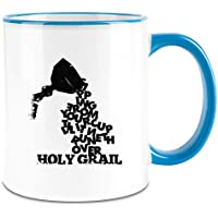 Payton Clothing Santo Grial - Holy Grail Colored Handle Coffee Mug - 11 Oz Ceramic Cup