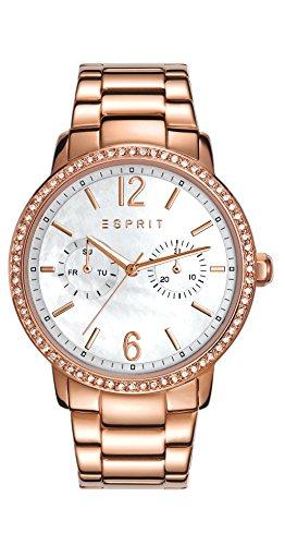 Esprit Damen-Armbanduhr Kate Analog Quarz Edelstahl beschichtet ES108092003