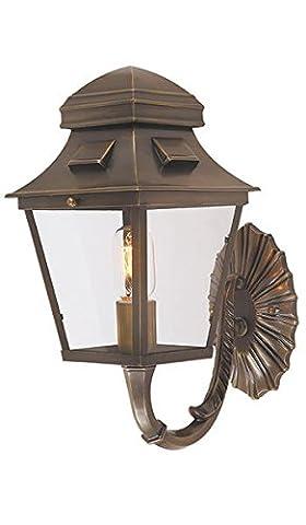 St David's Aged Brass Wall Lantern
