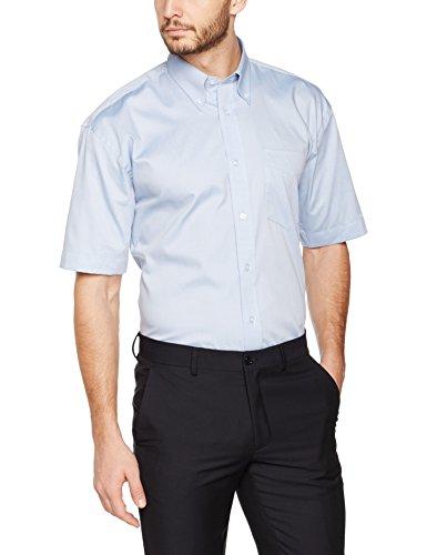 KUSTOM KIT Herren Business-Hemd Kk109A, Blau (Light Blue), 43 cm (HerstellerGröße: L) (Kit Business)