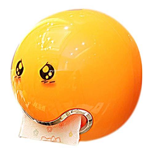 te Tissue Box Bad Wc Wasserdichte Papier Box Kreative L?cheln Gesicht Rollen Papier Halter Küche Wc Liefert Orange ()