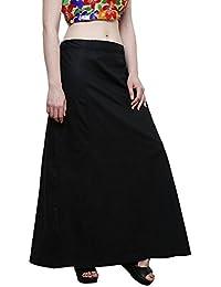 Aurielle Rogisse Mujer India Sari Algodón Enagua Bollywood Solid Inskirt Costuras Forro Enaguas