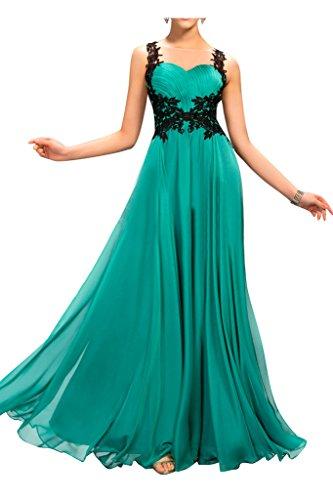Sunvary Chiffon pizzo e posteriore trasparente, per damigella d'onore per abito Wedding Guest Turquoise Green