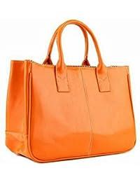 Tonsee® La Mode Coréenne élégant Sac cuir Femme Lady fourre-tout sac à main (Orange)