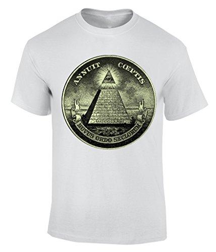 Illuminati Symbol T-Shirt Herren Weiß