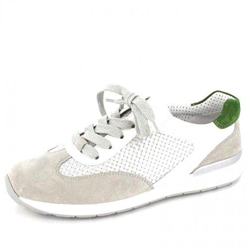 Ara 12-34533 Helsinki donna Sneaker larghezza H per solette sciolti ciottoli / argento / bianco / rana
