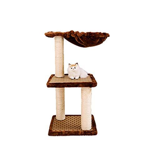 LH's stores Kratzbaum Haustier Katze Klettergerüst Sisal Katzenregal Katzenbett Katzenkratzsäule Katzenspielzeug 30 * 30 * 65cm Orange Cat Klettergerüst -