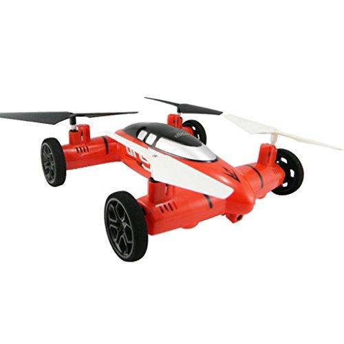Lacaca HW7007 di Terra e di Mare 2 in 1 2,4G 6 Asse Aereo che Atterra Macchina Telecomandata Quadcopter Drone Elicottero (Rosso)