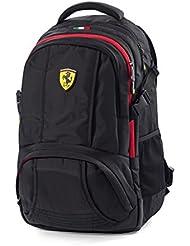 Mochila de deporte negra de Ferrari para llevar el ordenador, Fórmula 1, medida estándar para llevar el portátil