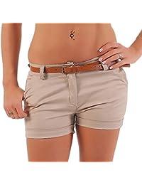 cff23d9aacd8f7 Malito Damen Chino Shorts in Unifarben | lässige Kurze Hose | Bermuda für  den Strand
