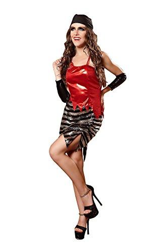 n Versuchung Set Cosplay Kostüme Spiel Uniformen Erogen (Farbe : Rot, Größe : L) (Home Piraten Kostüme Frauen)