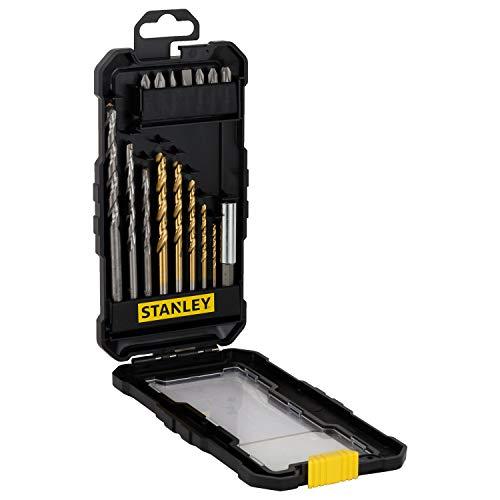 Stanley FatMax sta7221-xj Zubehör-Set Stanley 16teilig Bohrer zum Bohren und Schrauben. 3titan (5, 6, 8mm), Bohrer 4Für Wand (5, 6, 7und 8mm), 1Adapter Magnetisch für Bits (60mm), 7Schrauber