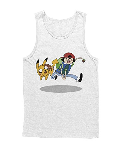 Tank-Top Poke Go Mashup Finn and Jake Hype Kanto X Y Blue Red Yellow Plus Hype Nerd Game C980106 Weiß XXL