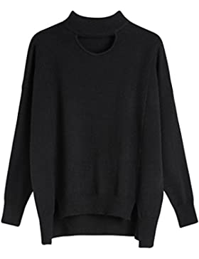 Vogueearth Fashion Hot Mujer's Ladies Loose Fit Knit Jumper Jersey Sudaderas Suéter Pull-over Pullover Top Largo...