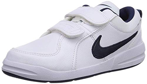 Nike Unisex-Kinder Pico 4 (PSV) Low-Top, Weiß (White/Midnight Navy) 35 EU