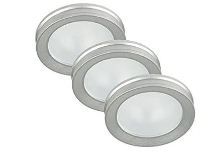 Ranex Fester Einbauspot Paola Aluminium 3er Pack
