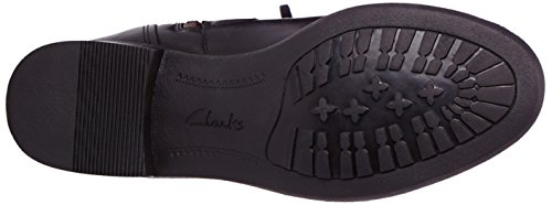 Clarks Mint Treat GTX Damen Langschaft Stiefel Schwarz (Black Leather)