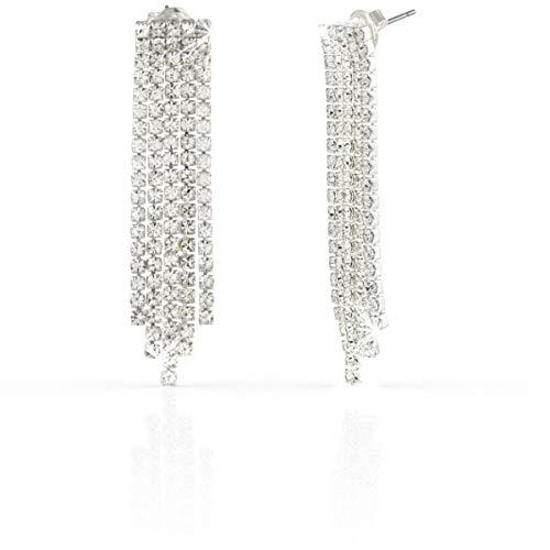 Collezione gioielli UNOAERRE: Collana, Bracciale, Anello. (Orecchini pendenti a 5 fili di cristalli)