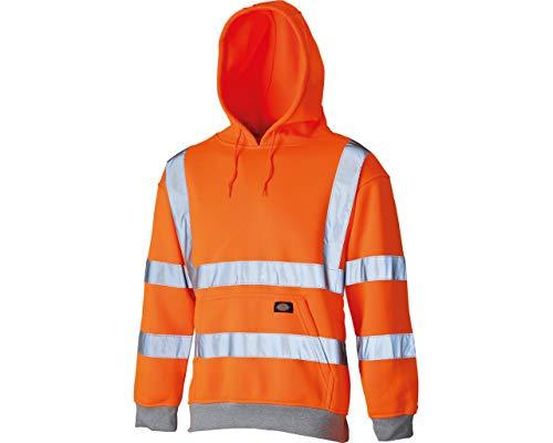 Dickies Hochsichtbares Kapuzen-Sweatshirt Warnschutz SA22090, Größe:XL, Farbe:orange