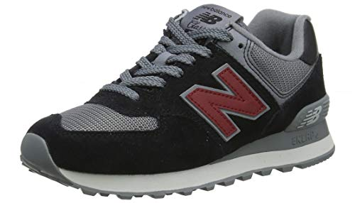 New Balance 574, Zapatillas para Hombre, Negro (Black/Nb Scarlet ESU), 40.5 EU (Talla Fabricante: 7...