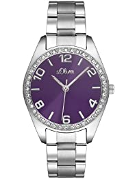 s.Oliver Damen-Armbanduhr Quarz Analog SO-2279-MQ