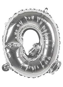 Boland 22116Globo Letra Q, Plata, 36cm