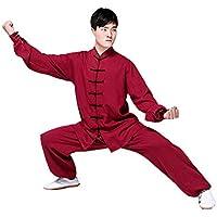 SCDXJ Chino Tradicional Tai Chi Ejercicio Taekwondo Entrenamiento Kung Fu Algodón Y Lino Manga Larga Ropa Práctica De Tai Chi,XL
