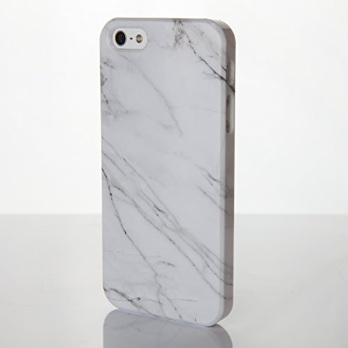 iCaseDesigner Schutzhülle für iPhone-Modelle, Marmor-Look mit individuellem Namen oder Initialen, glänzend, Individuelles Design, plastik, 8: Black and White Marble, iPhone 6+ / 6S+ Plus - Slim Case 5: Sea Green Marble