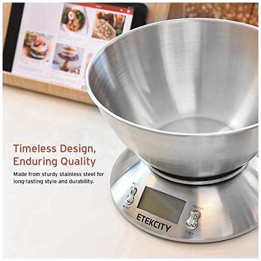 Recensione E Opinioni Su Etekcity Bilancia Cucina Digitale Bilancia Da Cucina Elettronica In Acciaio Inossidabile 5kg 11lb Con Ciotola Bilanciadacucina It