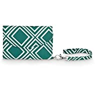 All For Color Green Geo Smart Phone Wristlet